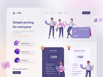 Exploration - Crative Agency Pricing Section 3d website pricing section pricing agency digital agency crative agency uiux designer 3d uiuxdesigner webdesigner uiux webdesign clean ui uidesigner userinterface uiuxdesign uidesign
