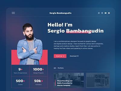 Exploration - Portfolio Website portfolio uiuxdesigner webdesigner webdesign uiux ui clean userinterface uiuxdesign uidesigner uidesign