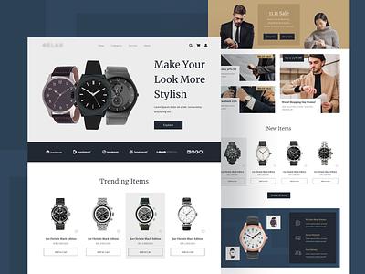 Watch E-Commerce Website watches watch e commerce ecommerce online shop uiuxdesigner webdesigner webdesign uiux clean ui userinterface uiuxdesign uidesigner uidesign