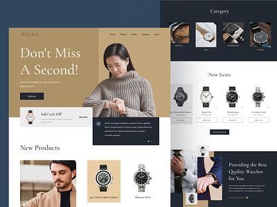 Watch E-Commerce Website watches watch e commerce ecommerce online shop uiuxdesigner webdesigner webdesign uiux ui clean userinterface uiuxdesign uidesigner uidesign