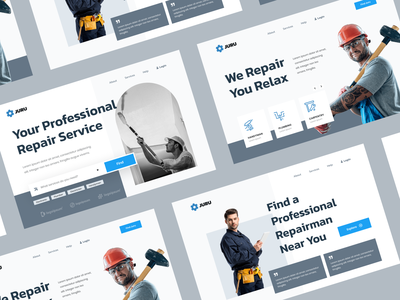 Hero Exploration - Repair Service Website home service home repair service repair uiuxdesigner webdesigner webdesign uiux clean ui userinterface uiuxdesign uidesigner uidesign