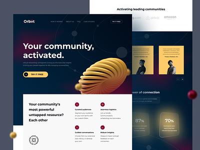 Orbiit Website Exploration 🪐 uiuxdesigner webdesigner webdesign uiux clean ui userinterface uiuxdesign uidesigner uidesign