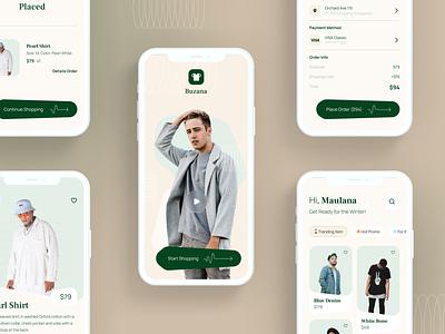 Buzana - Clothing Store App 👕 fashion clothing interaction prototype principle mobile app design uiux clean userinterface uiuxdesign uidesigner uidesign animation ui