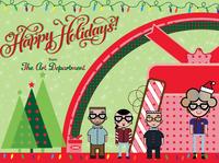 GPI Holiday Banner for my Art Dept. Team.