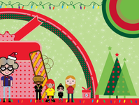 Holiday Banner Pt. 2 (I'm the one in the yellow visors.)