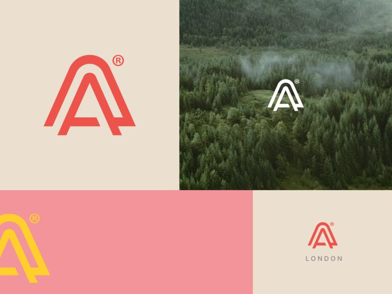 August Evolved Branding logo typography iconography branding