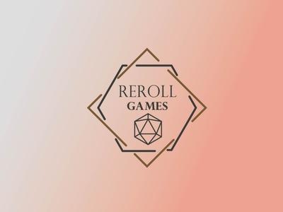 Reroll Games comics graphic design logo design dice dnd games branding minimal logo flat design
