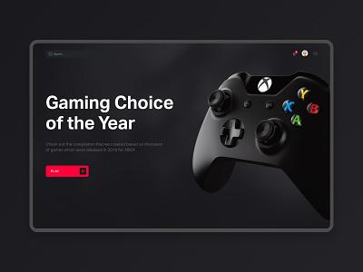 Hero Screen — Gaming Choice dark uiuxdesign uidesign minimal branding logo website web ux ui typography type design animation