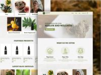 Cannabidiol Weed Website Design e-commerce design webdesign web ui homepage design website ux site design homepage design