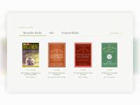 Online Book Store Interface ux design e-commerce design books book interface website clean design ui web ux design site design