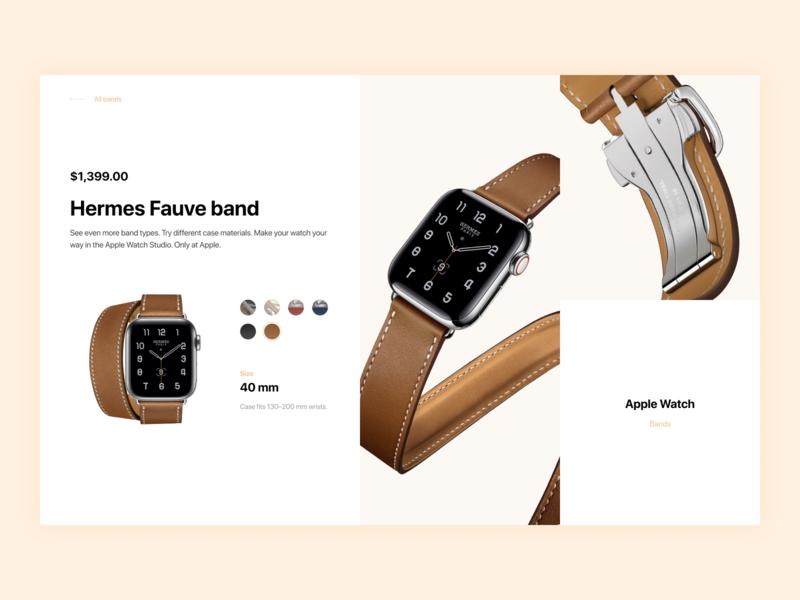 Apple Watch Band Customizer e-commerce design user interface design user interface ux design site design web ui apple apple watch design website ux