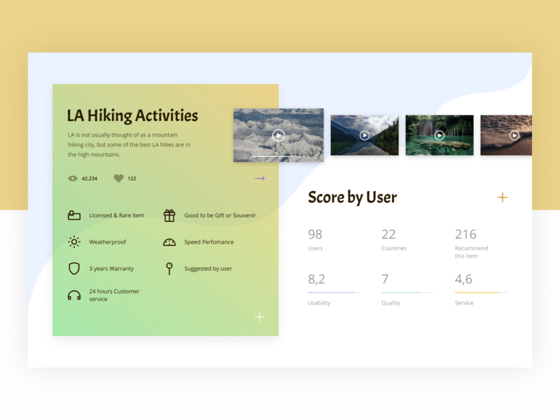 LA Hiking Website app webdesign ux design ux design score product page ui site design website web roadtrip los angeles hiking