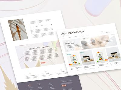 Design Concept for CBD Website webdevelopment webdesign ecommerce branding ux design ui web site design design ux website cannabis website cbdbusiness cannabis hempoil hemp cbdoil cbd