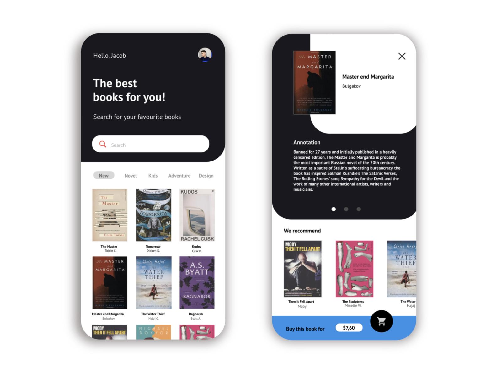 Book App Mobile Concept by Vladislav Cherkashen for Decent