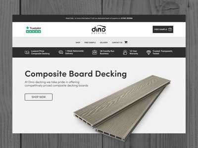 Dino Decking Website Design