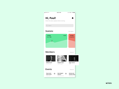Business App digital web cards ui product-design designer ui-design ui app design business cards business