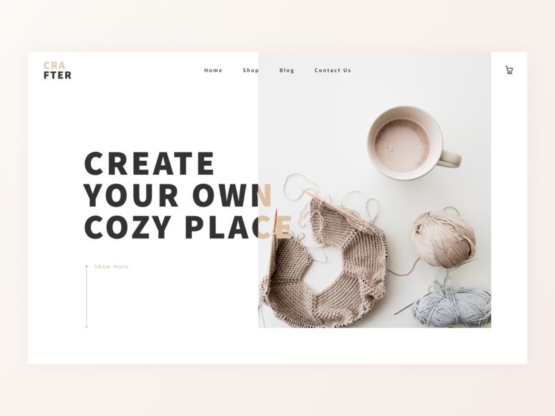 Crafter — Online Shop for Household Products shop ecommerce design simple design ui homepage homepage design ecommerce shop ecommerce website ux web ux designer