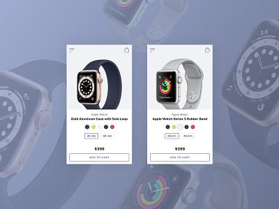 Apple Watch Shop App app ux designer interface design ui e-commerce design e-commerce shop shop e-commerce interface web design ux watches apple watch apple