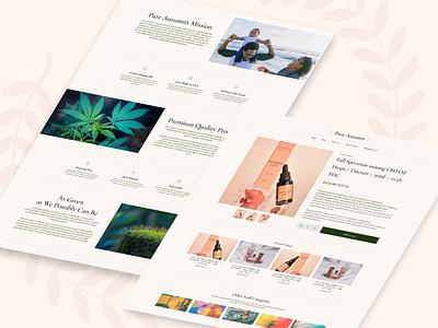 Pure Autumn CBD Shop Page Design ecommerce design dropship ux ui website webdesign dropshipping ecommerce cannabis business cbd website cannabis design cannabis hemp oil hemp cbd oil cbd