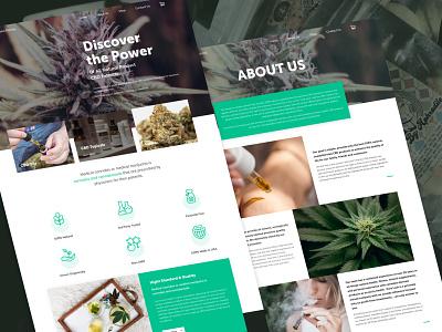 CBD Website Design for Blooming Pot branding logo ui design ux design wordpress design web design cbd website cannabis website cannabis business cannabis hemp oil hemp cbd oil cbd