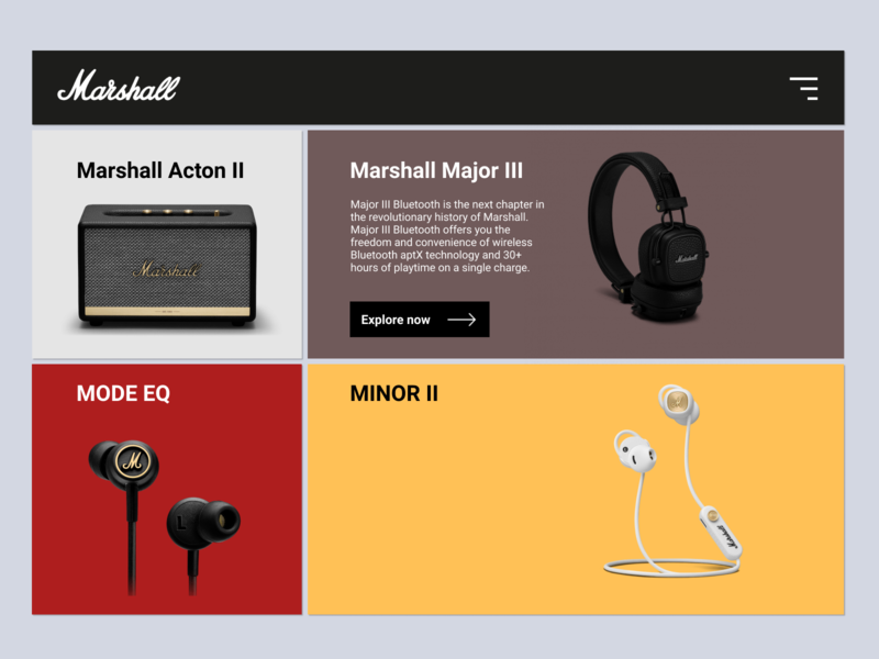 """Marshall"" New Homepage Concept"