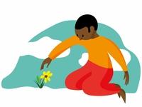 Catching flower