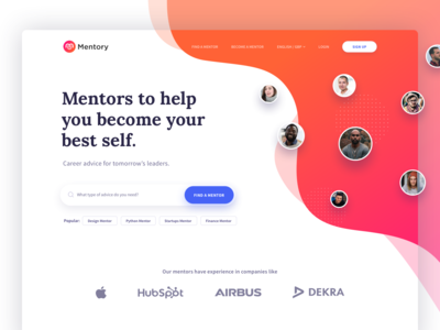 Mentory Landing page