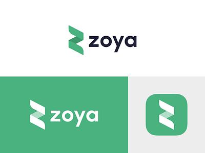 Zoya  Find Halal Stocks zoya fintech finance investment brand inspiration minimal flat vector illustration branding stocks design logo app icon