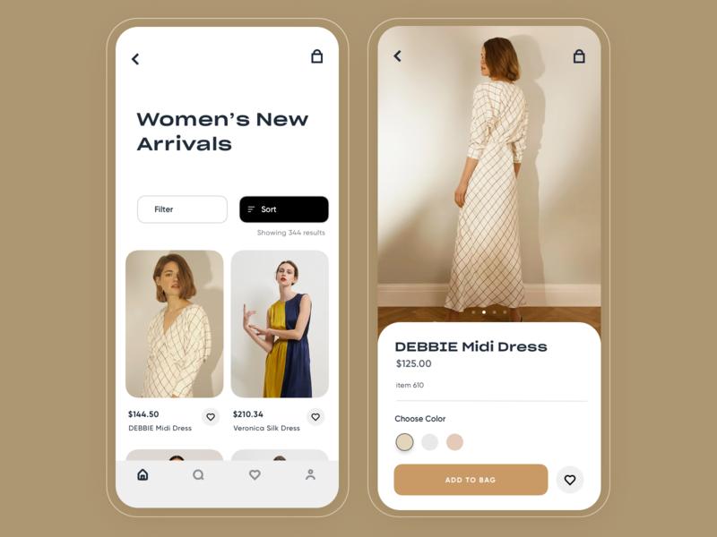 Zoya - Fashion app uxdesign save bookmark profile search ios design uidesigner uidesign startup fashion app ux mobile ui inspiration