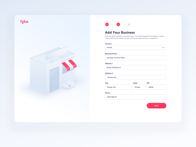 Fobe - Add Your Business design visual design interface interaction website isometric uidesigner dashboard ux business inspiration illustration 3d ui design ui web