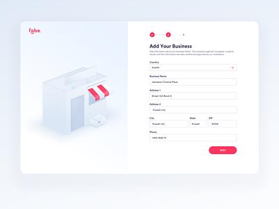Fobe - Add Your Business design visual design interface interaction website isometric uidesigner dashboard ux business inspiration illustration 3d ui design ui web