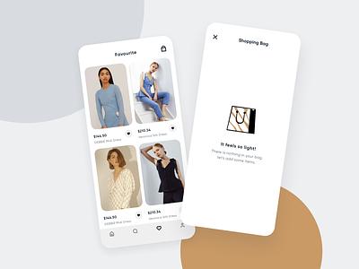 Zoya - Fashion Mobile App ecommerce app ecommerce fashion app inspiration fashion search profile favorite 2020 card cart shoping mobile uidesign design clean minimal app ios ux