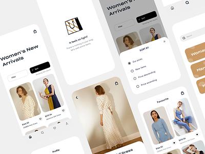 zoya - iOS fashion app interface visual mobile ui ux ecommerce fashion empty states ios mobile app ui design inspiration