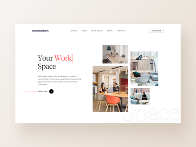 blackdesk - Landing page minimal desktop workspace enterprise startup coworking space coworking landing page uidesign page home webdesign website web ui design inspiration