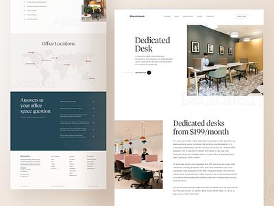 Dedicated Desk - Coworking Website workplace web design landing page website web design inspiration