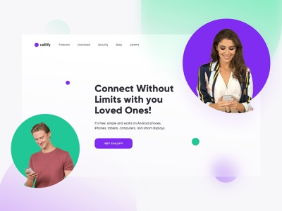 Callify - Hero Header landing page web website website design conference saas app video call hero inspiration