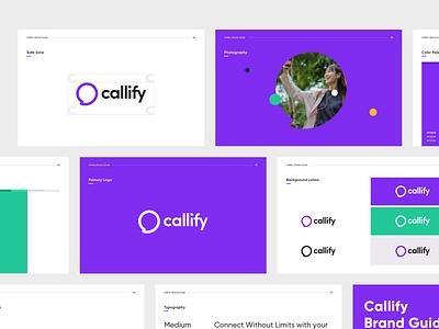 Callify - Brandbook minimal brand branding design inspiration design typogaphy color typography brand design branding logo