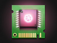 Computer Chip iOS App Icon