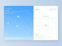 Calendar widget day