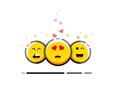 Emoji lovefrom from love app cute mobile tongue line friends smile set reaction cohesive hearts outline iconography vector illustrations expressions emoticons emojis emojiicons illustrator