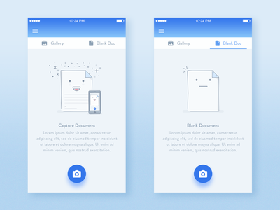 Signature app - Empty State Illustration esignature dropbox document state onboarding gradient intro ios product minimalist cute camera signature inspiration gallery error illustrator material icon user experience character guide page trends ui design onboarding mobile app illustrations minimalist interfaces sign empty ux