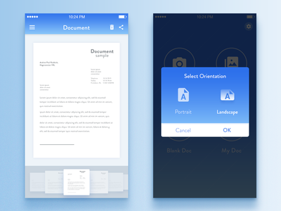 Signature iOS App -  UX/UI design