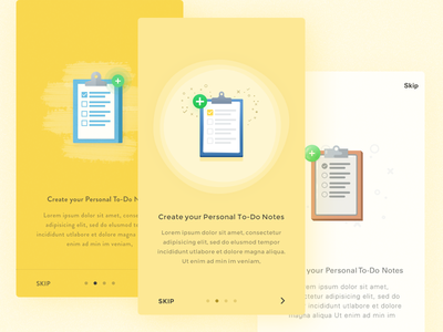 Onboarding Illustrations mobile - iOS walkthrough education note student icon color tutorial guide illustration icon intro ui guide page  space empty mobile illustration notes app register flat clipboard ios web signup minimal on boarding trend design inspiration onboarding how it works
