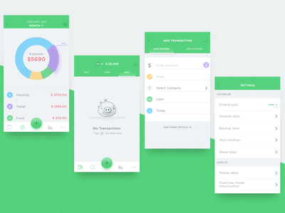 Mobile Finance iOS Application wealth payment illustration pig fintech ios bank banking finance money ui calendar minimalist page wallet clean empty illustrator empty space missing interfaces  design app transactions icon state blank ios graph designer ux character iphone