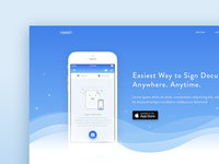 web illustration & Landing Page UI