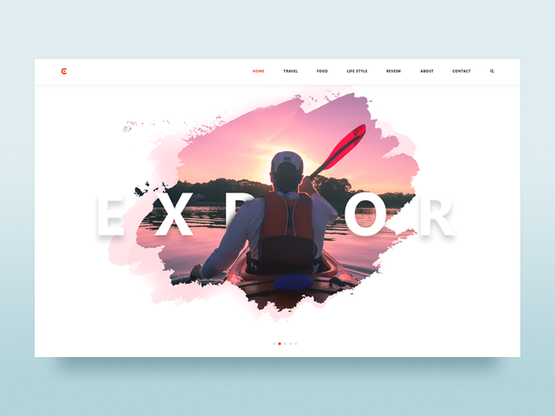 Hero exploration - Blog retro interface uidseign explore explore brush webdesign illustration travel banner trip header ux adventure article food mountains hero design image minimal texture ui  typography site manipulation web website minimalist illustrator 1 trend 2019 inspiration