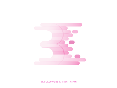3k illustration dribbble minimal invite line follower icon invitation design yp inspiration yoga perdana illustration 3k