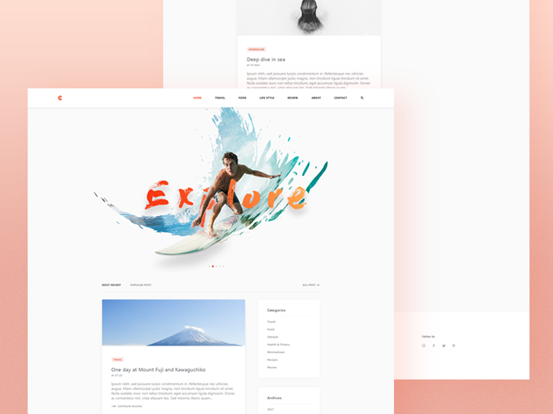 Cortana - Landing Page home page 2019 trend retro ecommerce travel website designer clean uxdesign webdesign uidesign uxdesign minimalist genius site trip surfboard webdesign crazy surf designer beach minimal clean splash landing ux hero review blog food web design ui illustration