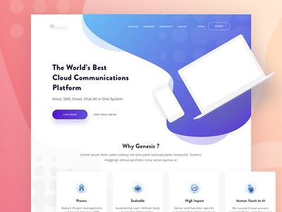 Genesis Landing Page