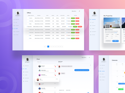 🏷️Offers - Property dashboard logo message admin real estate home brew profile icon inspiration calendar gradient card home chat uxdesign uidesign dashboard app dashboard property app web